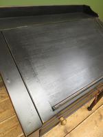 Antique Painted Black Clerks Desk (6 of 17)