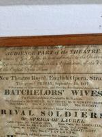 Antique Theatre Poster 1817 was the English Opera House, Now Lyceum, London Rare (2 of 7)