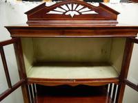 Art Nouveau Mahogany Cabinet Bookcase (6 of 7)