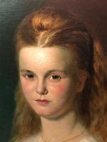 Huge 19th Century Young Fine Scottish Girl Portrait Matthias Robinson 1856-1895 (27 of 37)