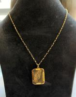 Art Deco 9ct Back & Front Gold Locket on Chain (9 of 10)