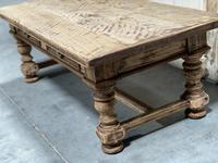 Rustic French Bleached Oak Coffee Table with 2 Drawers (8 of 19)