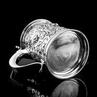 Antique Solid Sterling Silver Large Tankard with Royal Marines Officer Interest - Goldsmiths & Silversmiths Co 1900 (19 of 28)