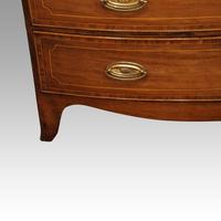 Regency Inlaid Bow Fronted Chest (9 of 10)