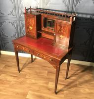 Edwardian Inlaid Rosewood Desk (10 of 23)