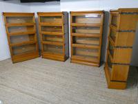 Set of Four Oak Globe Wernicke Bookcases (11 of 11)