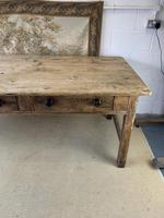 Superb Large 19th Century Pine Kitchen Table (10 of 10)