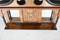 Victorian Inlaid Rosewood Overmantle Mirror Shelf (8 of 12)