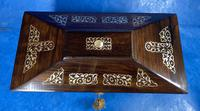 William IV Rosewood Tea Caddy With Mother of Pearl Inlay (4 of 15)
