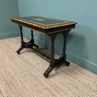 Spectacular Victorian Arts & Crafts Walnut Antique Centre Writing Table (2 of 6)