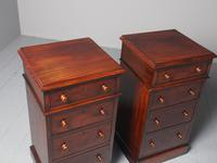 Antique Pair of Victorian Mahogany Bedside Cabinets (3 of 8)