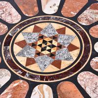 Antique Specimen Marble & Padouk Table (4 of 8)