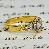 The Antique Victorian Old European & Rose Cut Diamond Ring (3 of 4)