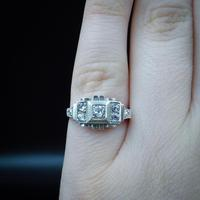 Art Deco French Sterling Silver Spinel Dress Ring (5 of 10)
