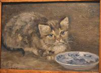 Charming Oil Painting of a Cat (4 of 7)