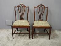 Pair of George III Mahogany Dining Chairs (6 of 10)