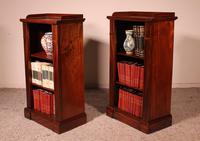 Pair of Open Bookcases 19th Century - William IV (10 of 10)