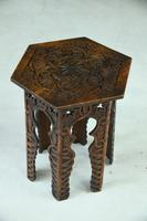 Moorish Chip Carved Octagonal Occasional Table (5 of 13)