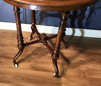 Victorian Burr Walnut & Marquetry Occasional Table (5 of 10)