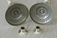 Fine Pair of Early 19th Century French Brass Candlesticks with Seamed Stems (5 of 8)