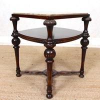 Marble Oak Side Table Continental Queen Anne (5 of 10)