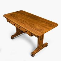 Late Regency Rosewood End Support Table Gillows or Holland & Sons (2 of 8)