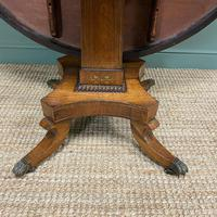 Spectacular Mellow Rosewood and Brass Inlaid Regency Circular Centre Table (2 of 8)