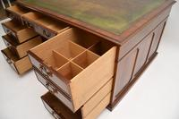Antique Mahogany Leather Top Partners Desk (11 of 12)