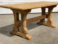 Great Rustic French Bleached Oak Coffee Table (9 of 25)