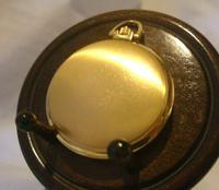 Vintage Swiss Oriosa Pocket Watch 1970s 12ct Gold Plated Full Hunter Quartz Fwo (5 of 11)