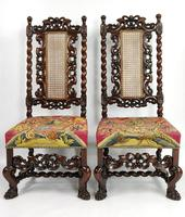Fine Set of Four Late 17th - Early 18th Century Walnut Chairs (13 of 14)