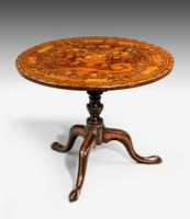 19th Century Dutch Marquetry Inlaid Tilt Table (2 of 7)
