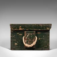 Small Antique Mariner's Trunk, English, Pine, Chest, Late Victorian c.1900 (5 of 12)