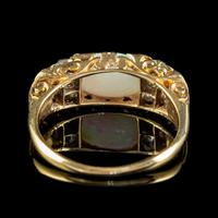 Antique Victorian Opal Diamond Ring 18ct Gold 2ct Opal c.1880 (4 of 6)