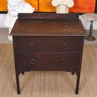 Arts & Crafts Oak Chest of Drawers (2 of 12)