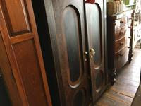 Antique Pine Cupboard Armoire Original Hand Painted (4 of 6)