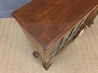 Burr Walnut Glazed Bookcase (12 of 14)