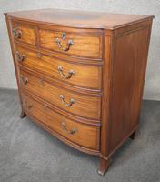 Edwardian Inlaid Satinwood Bow Fronted Chest of Drawers (8 of 9)