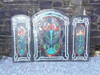 Arts & Crafts Leaded Glass Fire Screen (3 of 14)