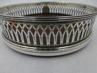 Antique George III Silver Coaster London 1791 (3 of 6)