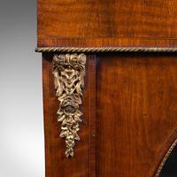 Antique Display Bookcase, English, Walnut, Boxwood, Empire, Cabinet, Regency (11 of 12)