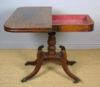 Elegant Regency Mahogany Side / Tea Table (4 of 7)