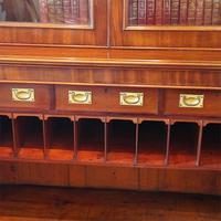 Victorian Mahogany Glazed Library Bookcase (8 of 11)