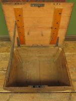 Antique Pine Tuck Box with Old Luggage Labels (3 of 19)