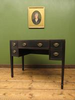 Antique Black Painted Console Table or Desk with Drawers, Gothic Shabby Chic (13 of 16)