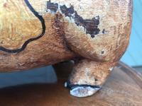 Antique Carved Pine Butchers Shop Display Pig (4 of 8)