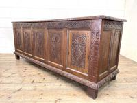 Huge 18th Century Carved Oak Coffer (7 of 9)
