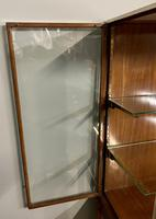 Brass Glazed Shop Display Cabinet on Wooden Stand with Drawer (10 of 13)