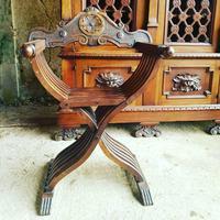 Italian Neo Renaissance Desk, Study Furniture Gothic (8 of 10)