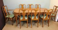 Set of Eight Queen Anne Style Walnut Dining Chairs (14 of 15)